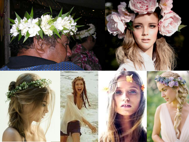 Examples of Flower Hair Wreaths